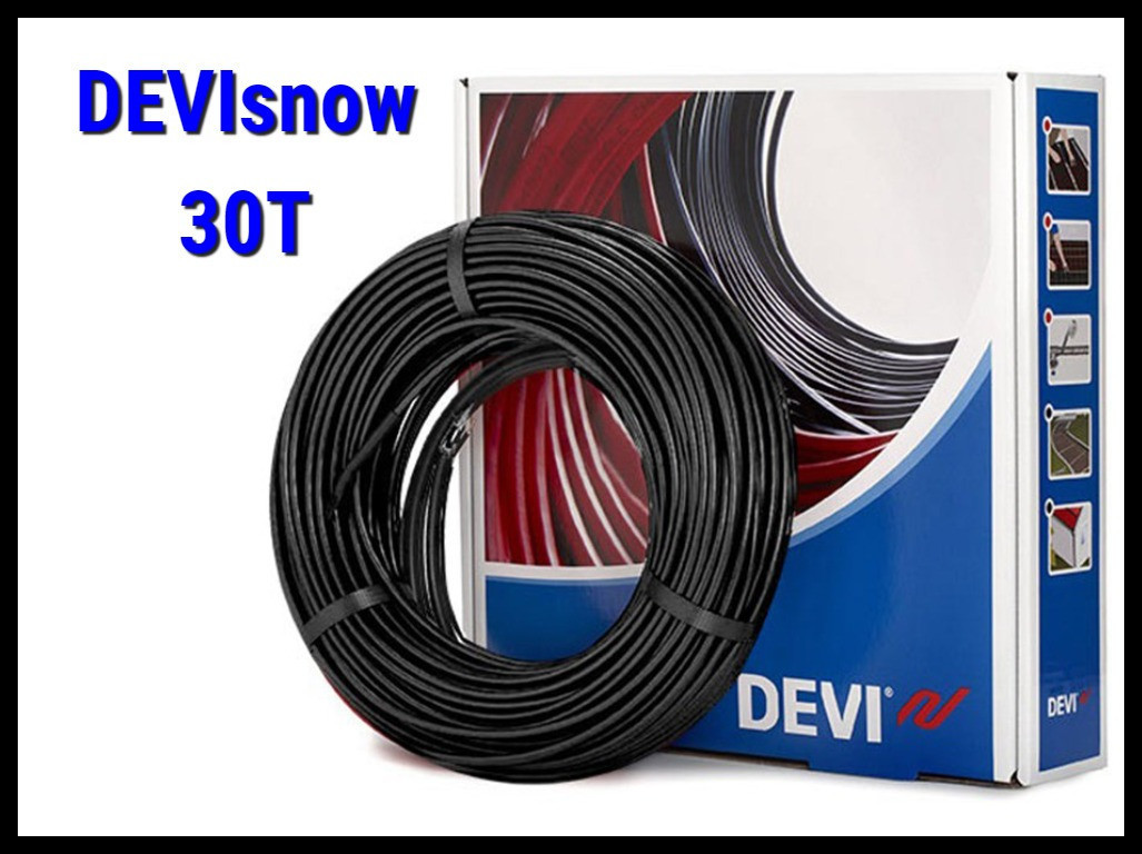 Двухжильный нагревательный кабель DEVIsnow 30T на 220В/230В - 14 м