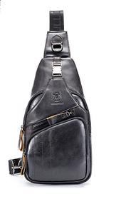 Мужской рюкзак-слинг  BULLCAPTAIN,  натуральная бычья кожа 100%