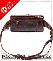 Мужская сумка на пояс , натуральная бычья кожа 100%, фото 3