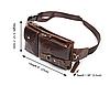 Мужская сумка на пояс , натуральная бычья кожа 100%, фото 4