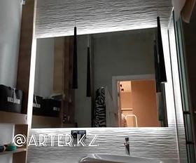 Зеркало с LED-подсветкой «парящее», 1000(Ш)х800(В)мм