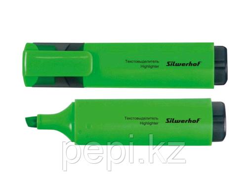 """Маркер текстовыделитель SILWERHOF """"Blaze"""" 1-4 мм, зеленый"""