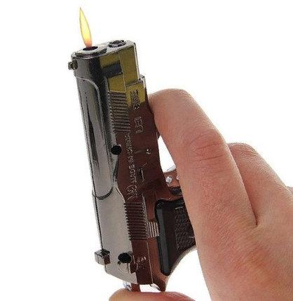 Зажигалка «Пистолет», пьезо, газ, микс, фото 2