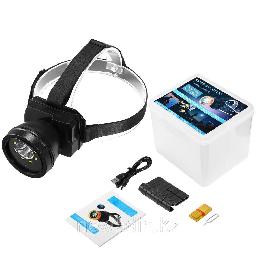 Full HD носимая на голове видеокамера с мощным LED фонарем (влагозащищенность IP65)