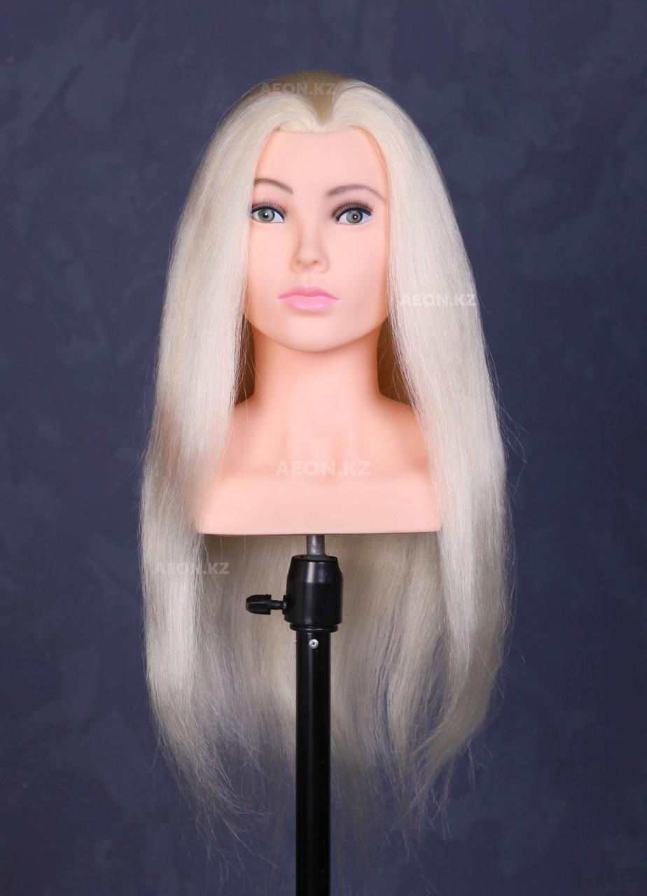 Голова-манекен с торсом блонд волос натуральный (100%) - 65 см