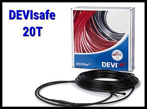 Двухжильный нагревательный кабель DEVIsafe 20T на 220В/230В - 6м