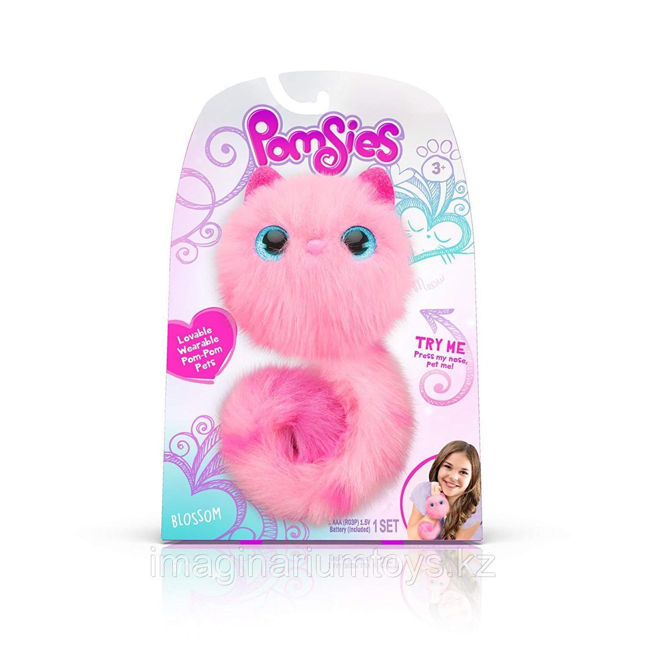 Интерактивная игрушка кошечка Pomsie Помси Розовая