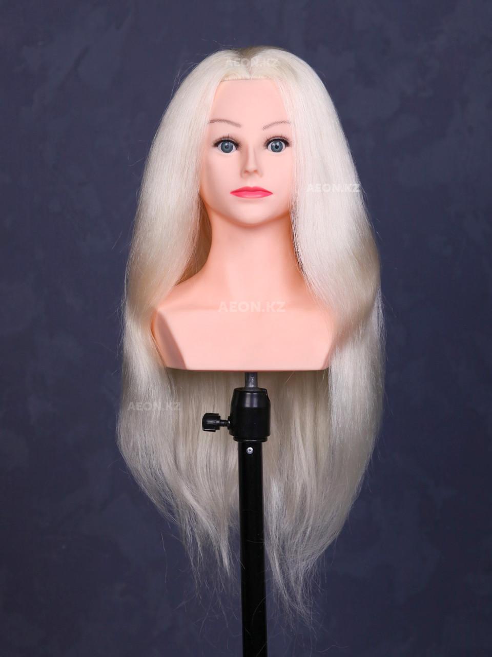 Голова-манекен с торсом блонд волос натуральный (100%) - 70 см