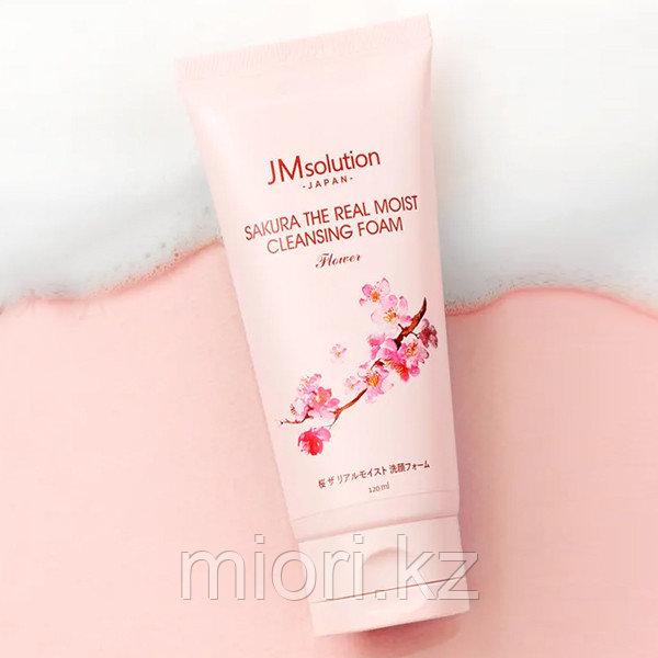 Пенка для умывания с экстрактом сакуры JMsolution Sakura The Real Moist Cleansing Foam