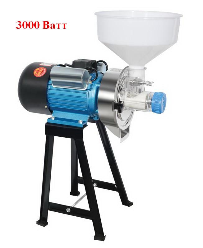 Akita jp ML-MA (3000 Ватт) жерновая электромельница для муки из зерна солода кукурузы кофе специй промышленная