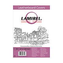 Обложки Lamirel  Delta A4  LA-78688, картонные, с тиснением под кожу , цвет: синий, 230гм², 100шт