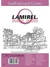 Обложки Lamirel  Delta A4  LA-78687  картонные  с тиснением под кожу   цвет: черный  230гм²  100шт