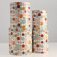Набор круглых коробок 4 в 1 'Бумажные фонарики', 23 х 23 х 25 - 15 х 15 х 20 см