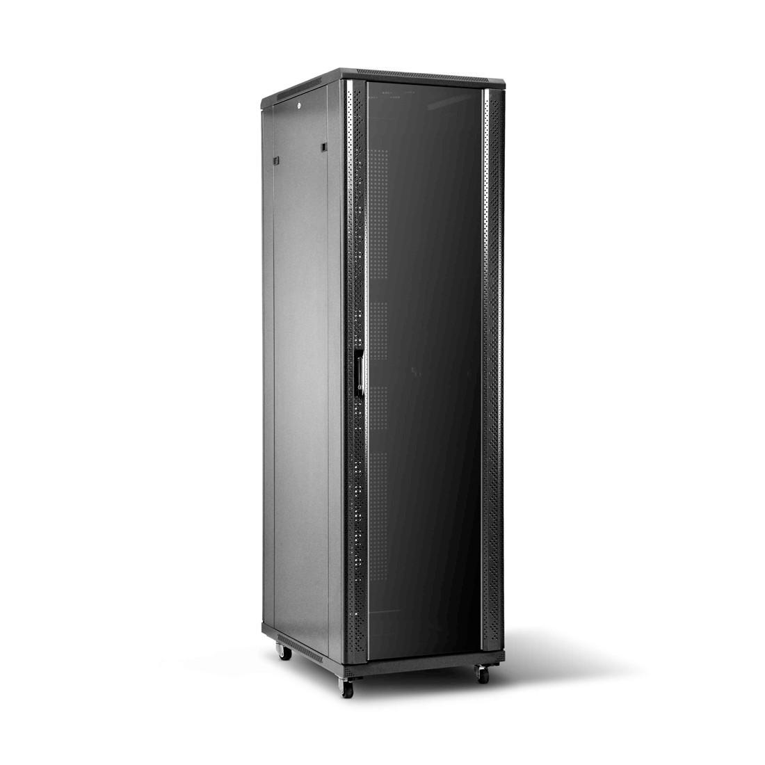 SHIP 601S.8242.24.100 Шкаф серверный 124 серия, 19'' 42U, 800*1200*2000 мм, Ш*Г*В, IP20, Чёрный