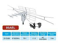 Уличная активная телевизионная антенна с поворотным механизмом и пультом дистанционного управления, 05AEL