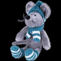 SOFTOY S887/15 Мягкая игрушка Мышь в шапке, 26см, фото 1