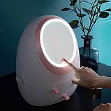 Органайзер для косметики с зеркалом с Led подсветкой, фото 3
