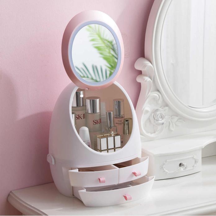 Органайзер для косметики с зеркалом с Led подсветкой