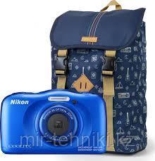 Фотоаппарат Nikon Coolpix W100 Blue + Рюкзак