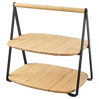 Поднос сервировочный, ФУЛЛСПЭККАД бамбук, черный, 28x20 см ИКЕА, IKEA