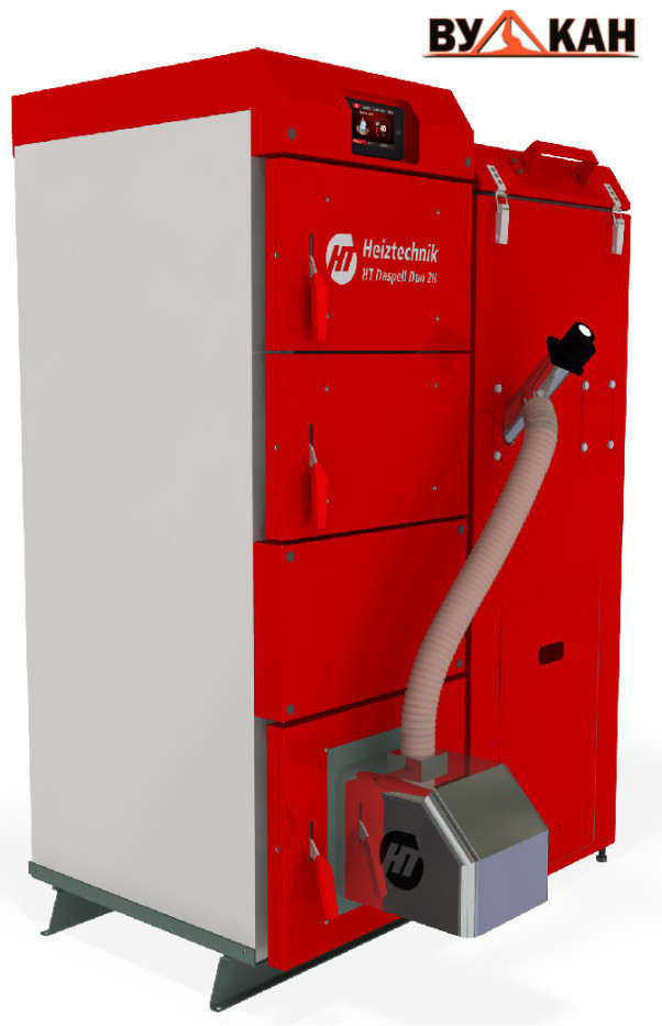 Автоматический пеллетный котел Heiztechnik Q Daspell Duo 55 кВт.