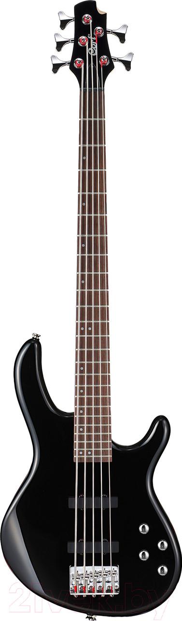 Бас-гитара 5-ти струнная, черная, Cort Action-Bass-V-Plus-BK Action Series