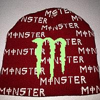 Шапка monster energy красная