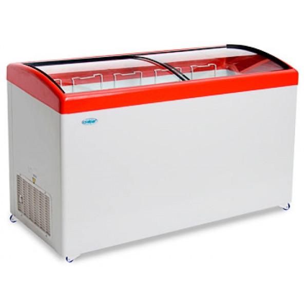 Ларь морозильный Снеж МЛГ-500 красный