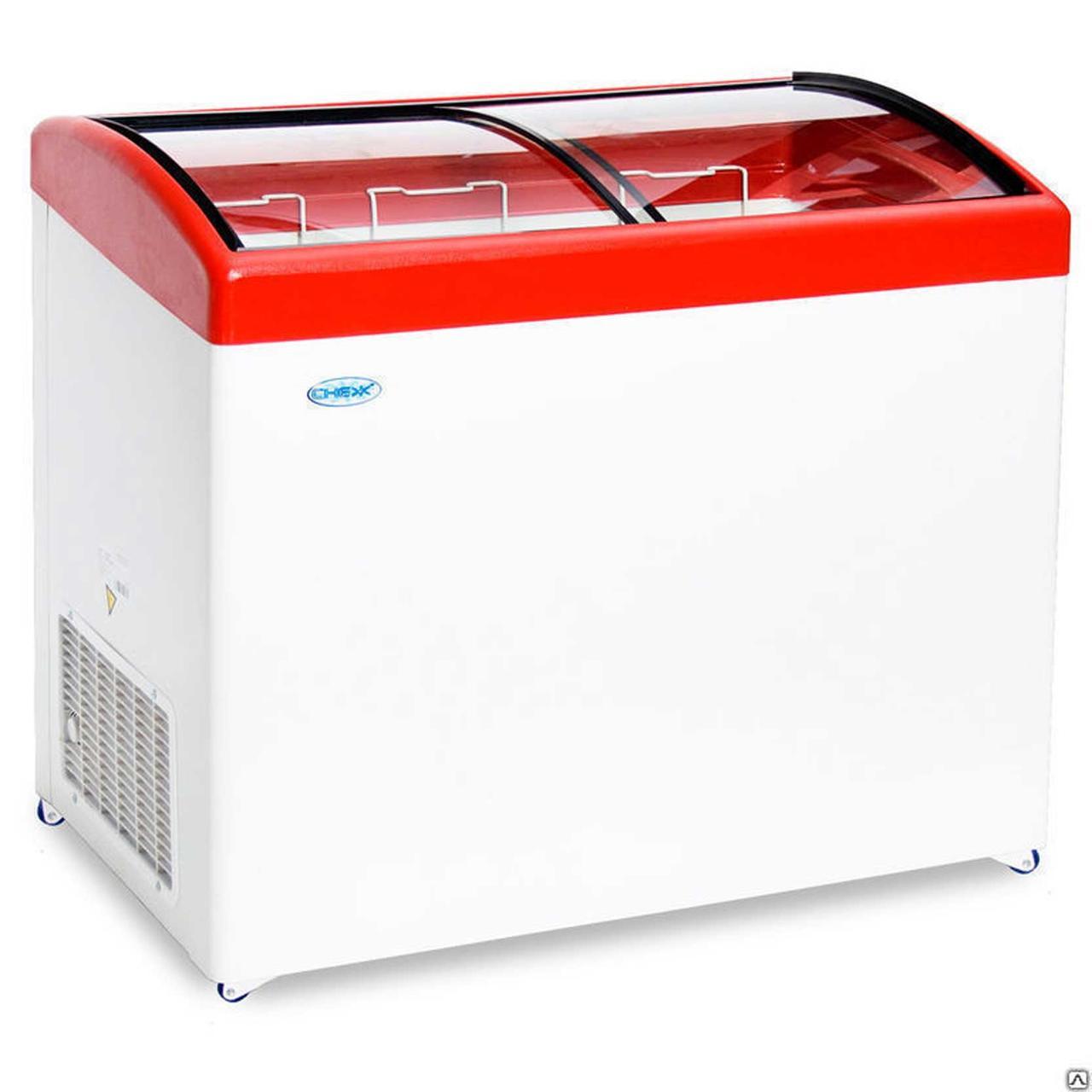 Ларь морозильный Снеж МЛГ-350 красный