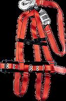 Страховочный пояс, ленточный строп с амортизатором, ЗУБР 11583, Обхват ремня 1140-1440 мм