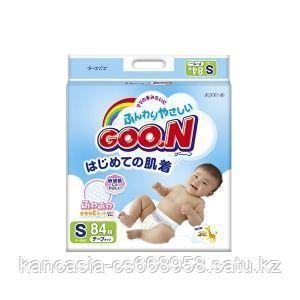 Goon Подгузники Goon, S, 4-8 кг, 84 шт/упак.