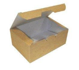 Коробка на вынос ECO FAST FOOD BOX S 115х75х45 мм крафт без печати, 400 шт, фото 2