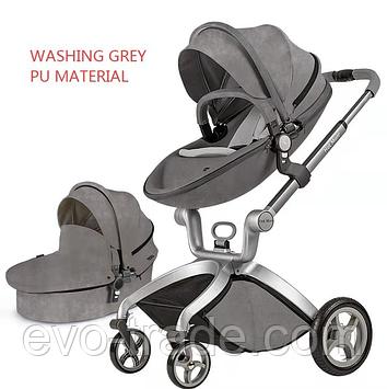 Hot Mom F22  Washing grey 2в1 (Алькантара)
