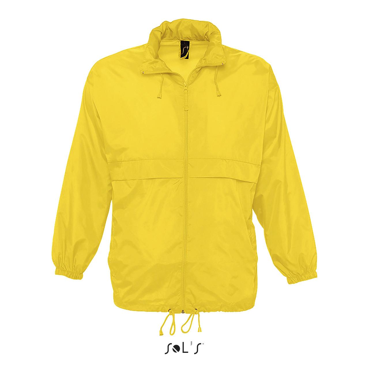 Водонепроницаемая ветровка Sols Surf, Желтая L