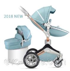 Детская коляска Hot Mom F023 Blue 2в1