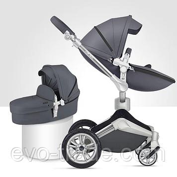 Детская коляска Hot Mom F023 Dark Grey 2в1