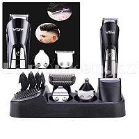 Профессиональная машинка для стрижки волос 6 в 1 VGR V-012 (аккумулятор и USB)