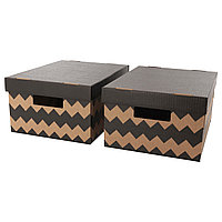 Коробка с крышкой ПИНГЛА  28x37x18 см ИКЕА, IKEA
