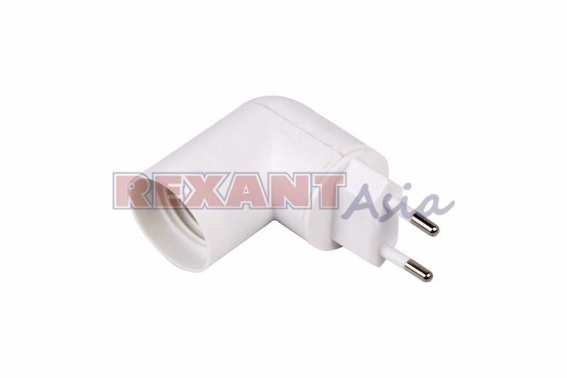 Переходник цоколный с выключателем, AC 220 V‑E27, (11-8881), Rexant