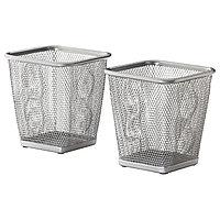 Стакан для ручек ДОКУМЕНТ 2 шт., серебристый ИКЕА, IKEA, фото 1