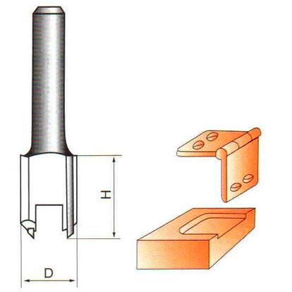 Фреза прямая пазовая Глобус D=16,l=19,d=8mm арт.1002 D16