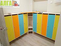 Шкафчики для детских садов с цветными фасадами