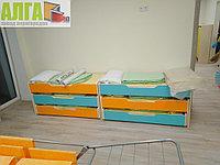 Кровать трехъярусная для детского сада, фото 1