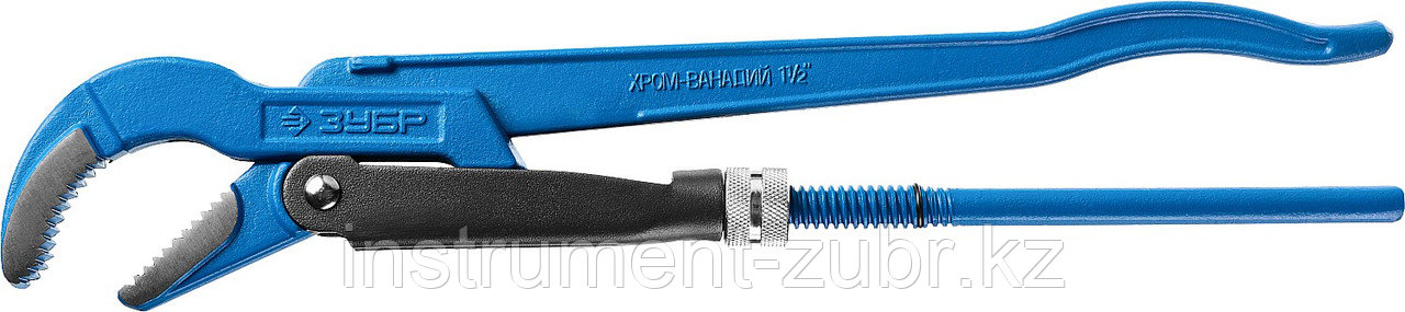 """Ключ трубный ЗУБР Тип """"Т"""", №2, изогнутые губки"""