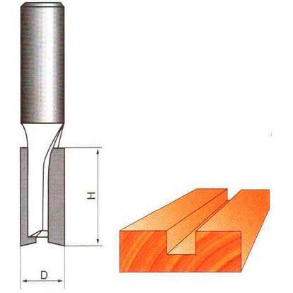 Фреза прямая пазовая Глобус D=12,l=30,d=8mm арт.1003 D12