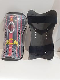 Футбольные щитки Ac Milan (цвет красный)