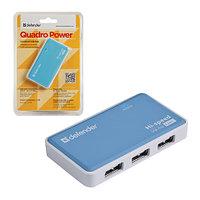 Хаб USB Defender Quadro Power 4xUSB2.0 белый
