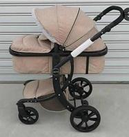 Утепленная коляска-трансформер  Aimile 608К мех (Бежевый)