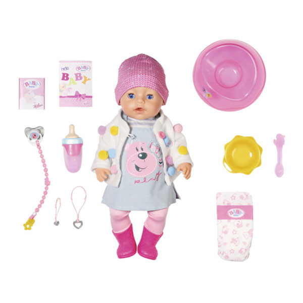 Baby born Интерактивная Кукла Беби бон Стильная Весна, 43 см