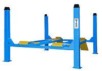 Подъемник 4-х стоечный под сход-развал 5500 кг, синий